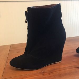 Zara Women's Suede Wedges Sz 40